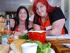 Hervey Bay's Michelle Solomon and Corinna Tindall visited Jamie Oliver's Food Revolution Van to learn new cooking skills.