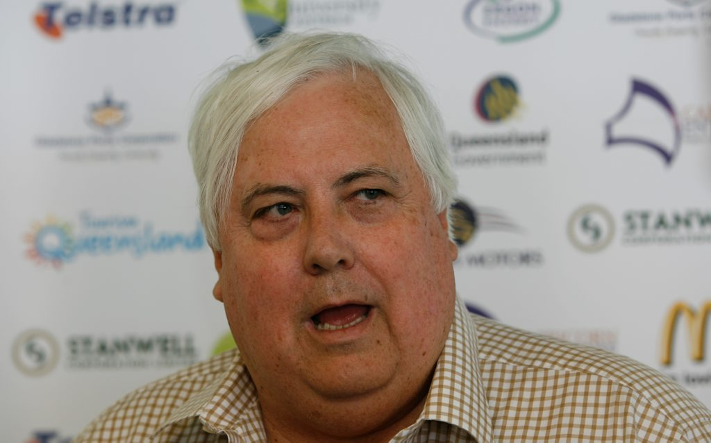 Mining magnate Clive Palmer in Yeppoon to address a business lunch.
