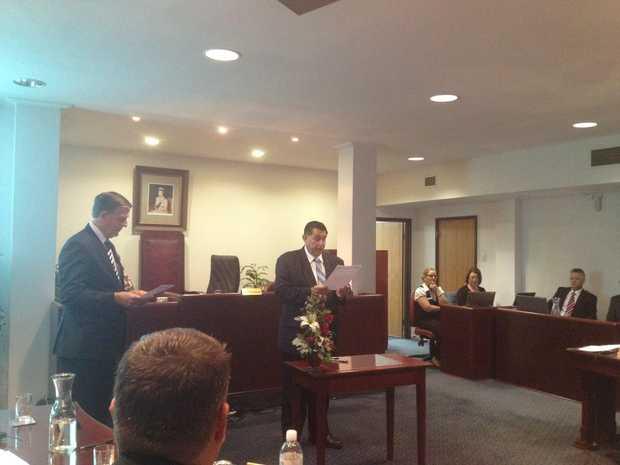 New Bundaberg Regional Council Mayor Mal Forman is sworn in.