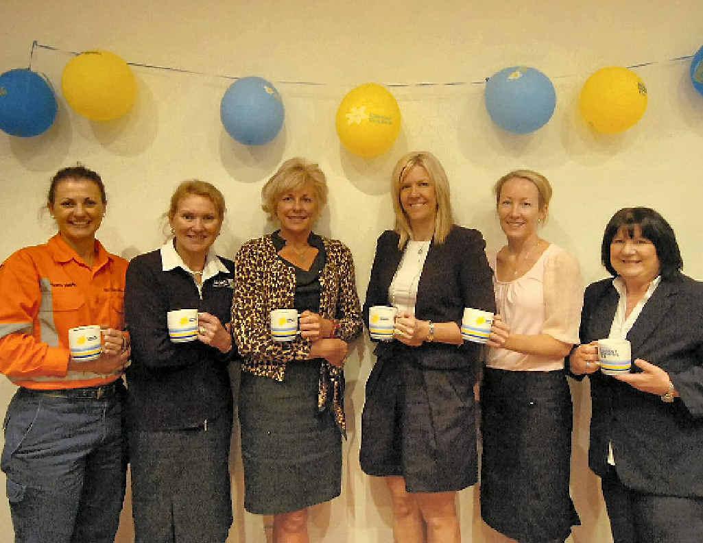 Jacinta Haplin, Kerry Whitaker, Judy Reynolds, Tina Zawila, Jorelle Gove and Leigh Zimmerlie at the GAGAL biggest morning tea.