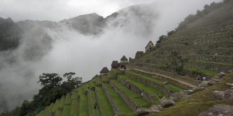 Terraces at Machu Picchu highlight the Incas' stoneworking skills.