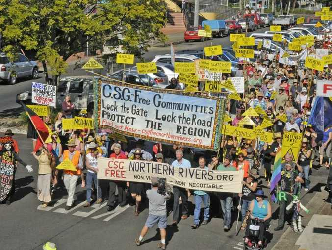 Anti-CSG Rally in Lismore on Saturday, May 5, 2012.