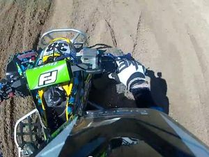Cameras capture Josh Dick's quad bike tumble