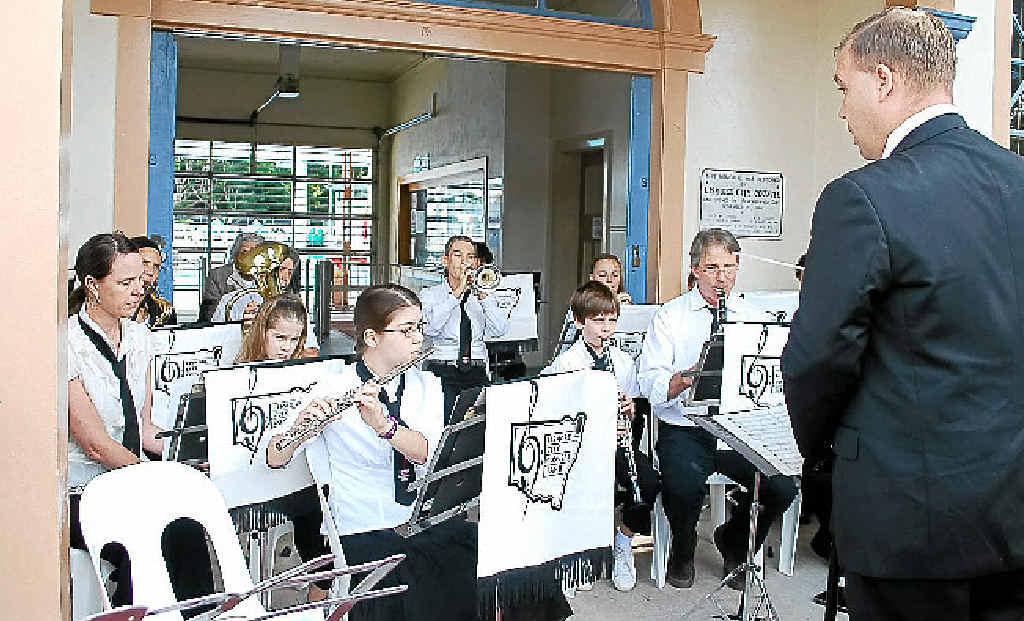 BIG SOUND: The Lismore City Concert Band under the baton of Ben van Kleef.