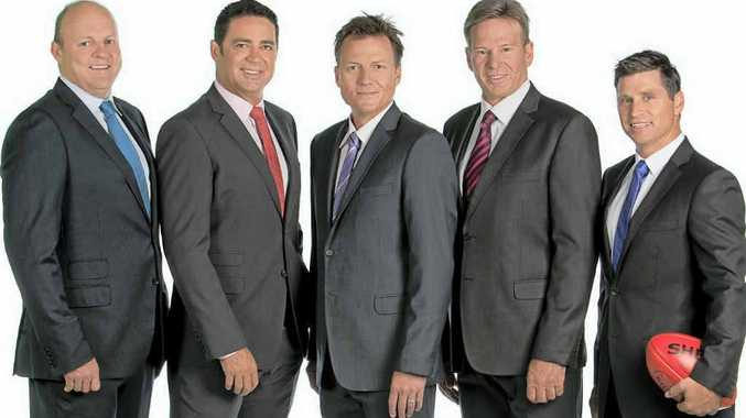 The team of Garry Lyon, Billy Brownless, Sam Newman, James Brayshaw and Shane Crawford.