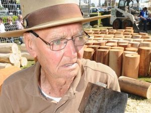 Woodchop legend competes at age 93