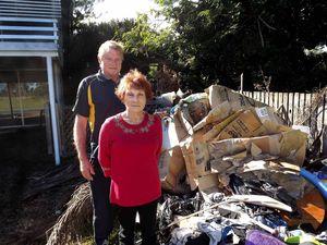 Tenant leaves landlord trash pile