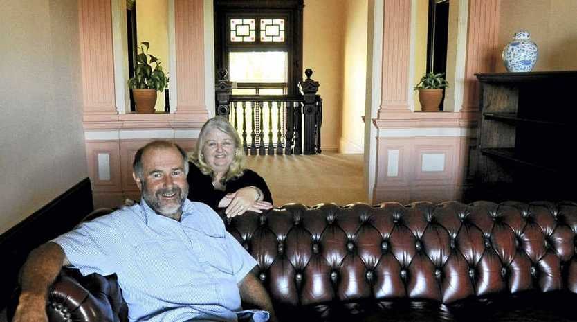 Vicki and Peter Ulrich, owners of Fenwick House at Shaws Bay in Ballina.