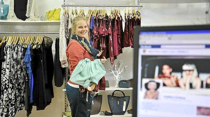 Morgan Bramwell-Baker shopping at Sublime clothing in Ballina.