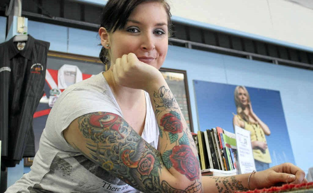 Holly Austin said she has never had complaints about her tattoos in the workplace.