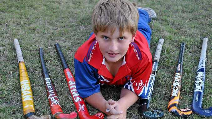 Warwick West State School student Isaac Johnson will play school hockey for Darling Downs this year.