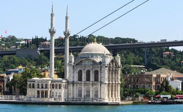 Ortakoy Mosque, built by an Ottoman sultan, is a vision of wealth and power.