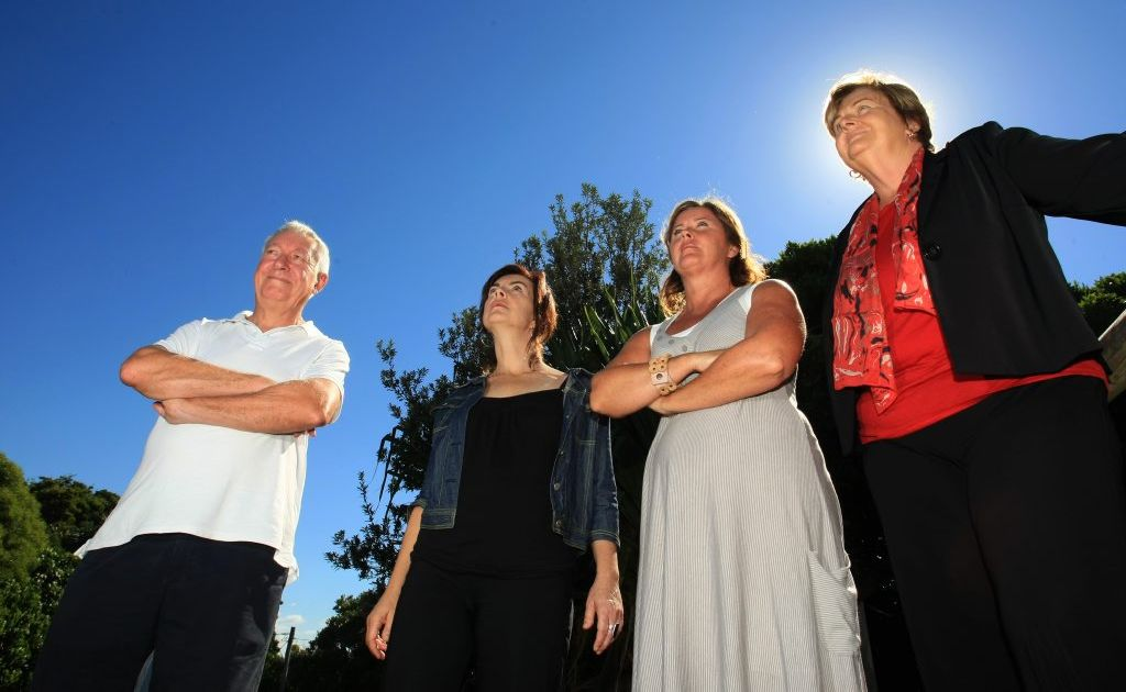 Paul Fagan, Dawn Walker, Karen Morrison and Helen Twohill are taking up the fight against aircraft noise.