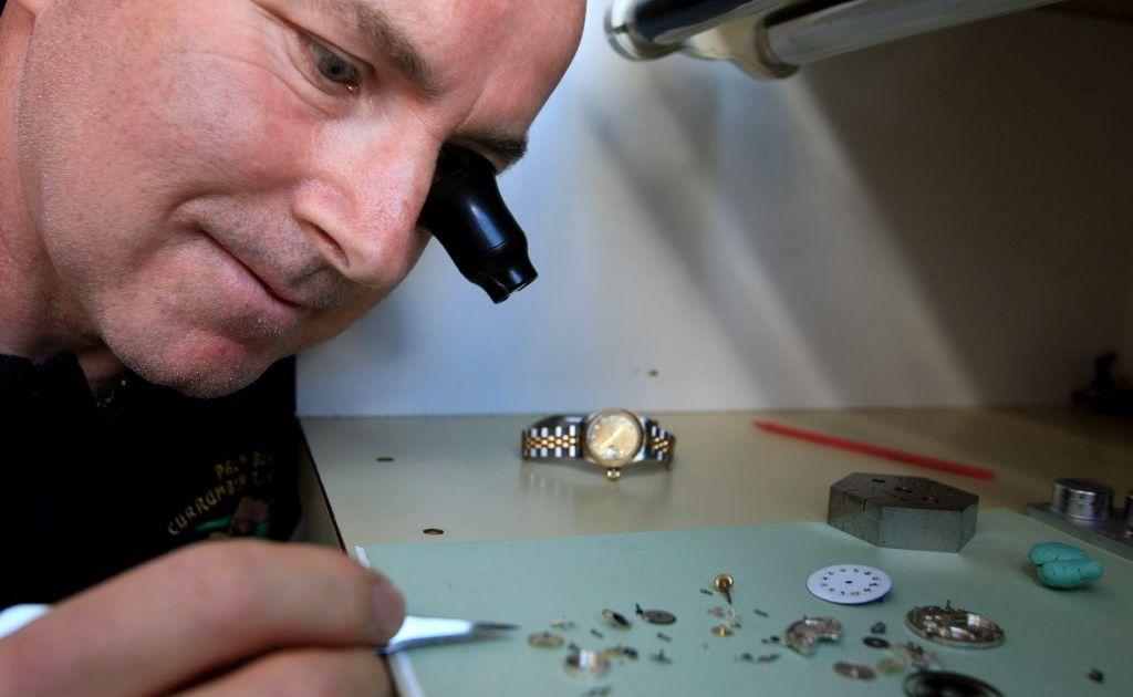 Murwillumbah watchmaker Mark Plescynski.