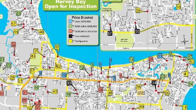 Hervey Bay Map Go househunting with handy map | Fraser Coast Chronicle Hervey Bay Map