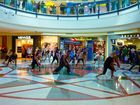 Flash mob dancers stun shoppers