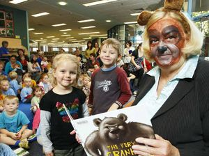 Kids pack out library for story