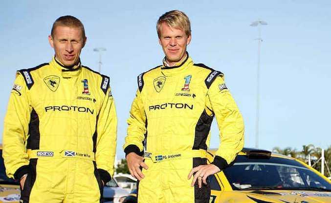 Proton drivers Per-Gunnar Andersson and Alister McRae are looking forward to the Rally of Queensland.