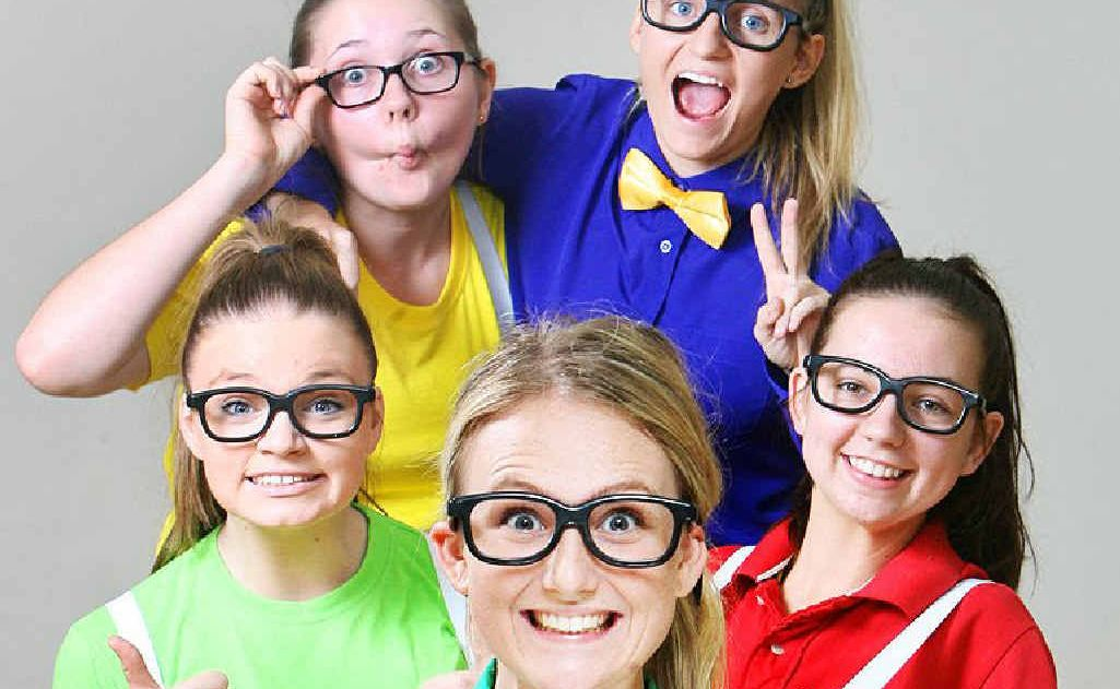 Year 12 students (clockwise from front) Georgia Hampson, Hope Kelland, Emily Convery, Hannah Schimke and Brittany Graham will perform as part of the WestMAC hip-hop troupe.