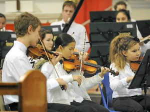 Church fills with music
