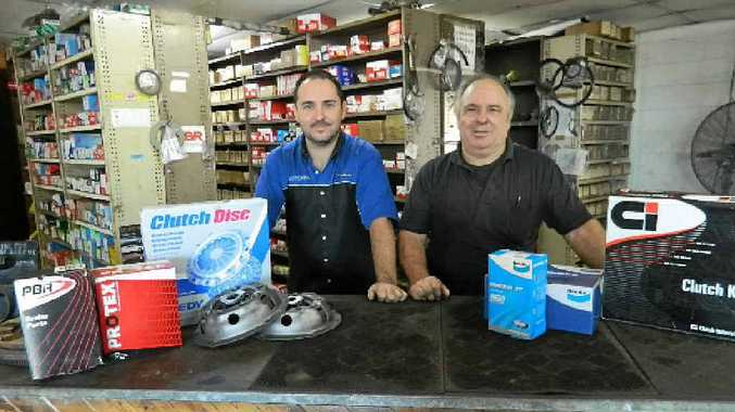 BRAKE SPECIALISTS: Shaun and Trevor Vidler of All Brake and Clutch Supplies.