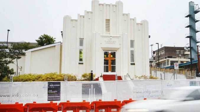 Work is well under way on the renovation of the Ipswich Baptist Church near McDonald's. It is being turned into a new community performance space especially for young performers.