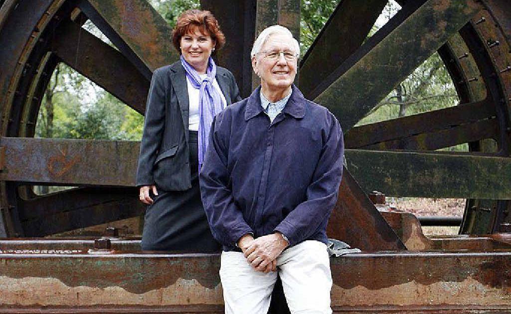 The Mineworkers Trust's Jo-Ann Miller and Haenke Foundation trustee Wybe Geertsma put wheels in motion.