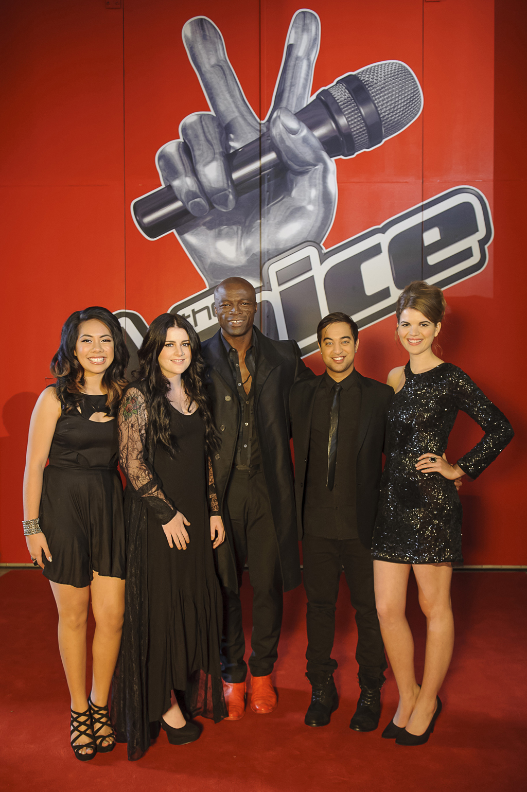The Voice coach Seal with his final four singers.