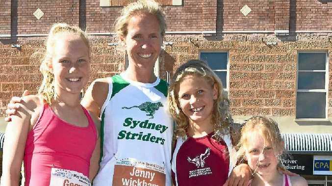 (From left) Gemma, women's winner Jenny, Sophie and Holly Wickham.