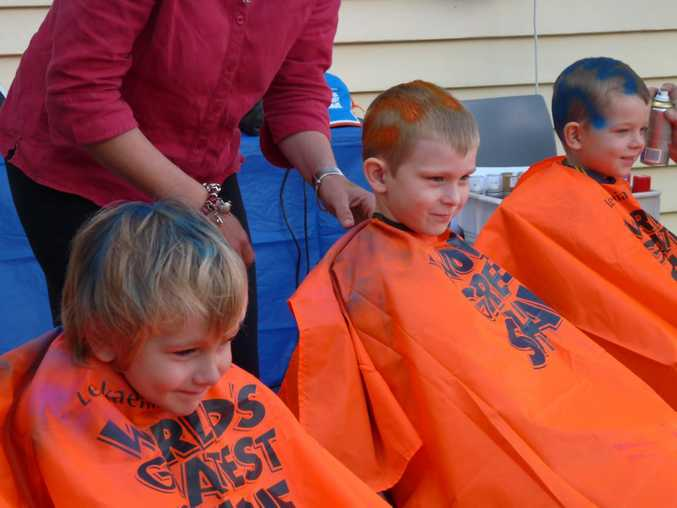 Goomeri students shaved and coloured for a cure.