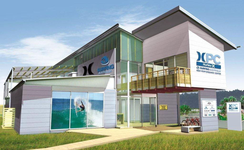 An artist's impression of the Hurley Surfing Australia High Performance Centre to be officially opened on June 15.