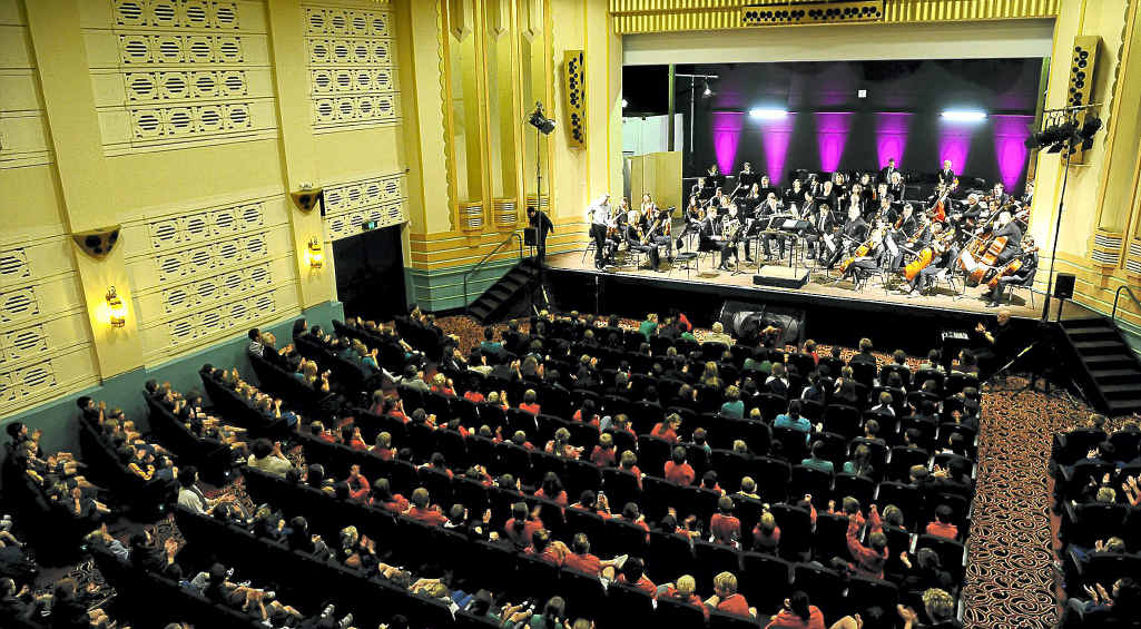 The Sydney Symphony Orchestra performed for school children at the Saraton Theatre this week.