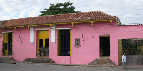 A pink house in the former pirate hangout of Camaguey.