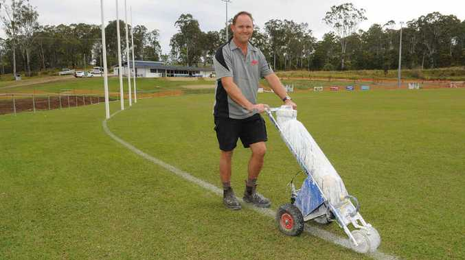 Gympie Cats' president Glenn Warren is preparing for the opening of their new improved clubhouse at Six Mile Oval today.