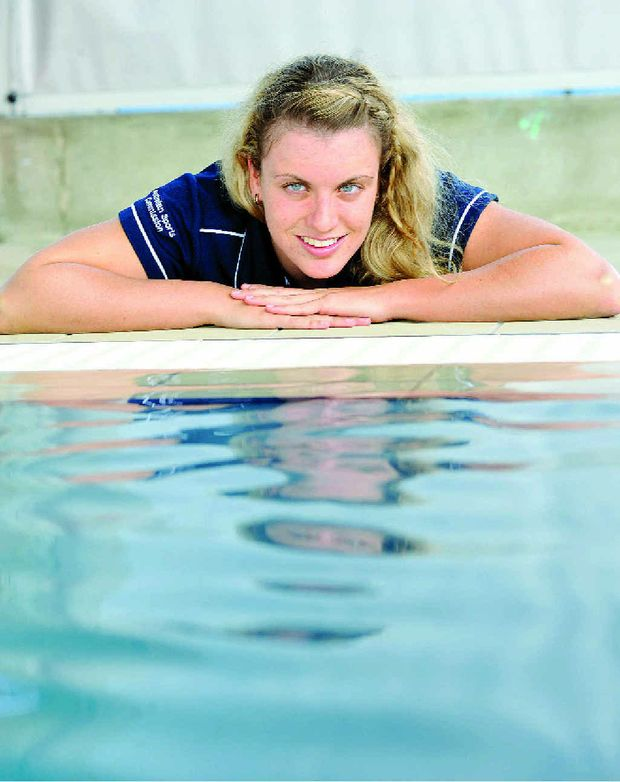 Jacqueline Freney ,19, of Skennars Head is training in anticipation for the paralympics in London in August.