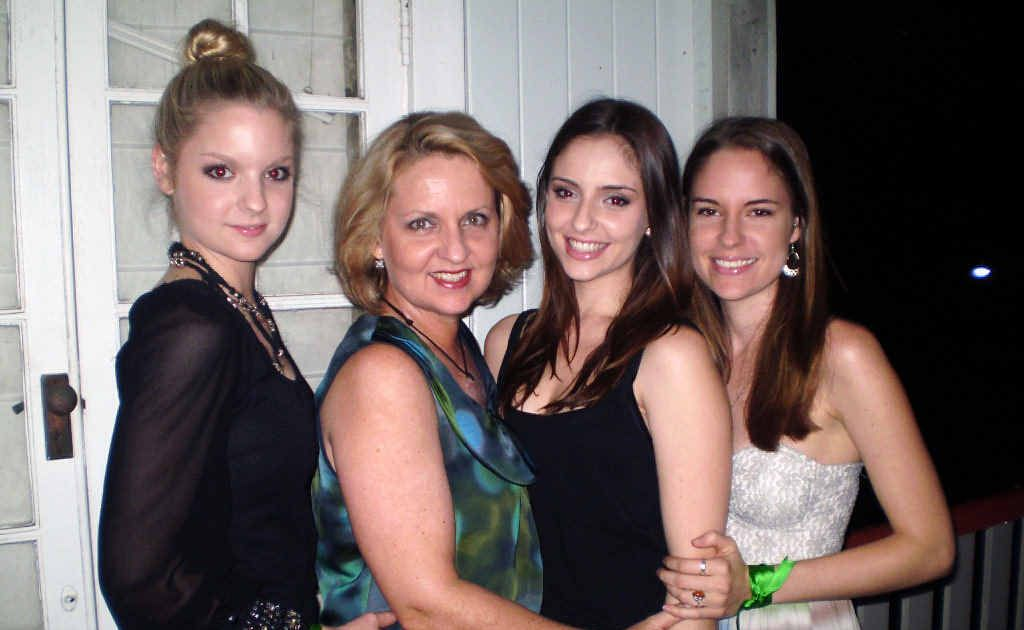 RIGHT THINGS TO SAY: Louise Fletcher with her daughters, from left, Emily, 21, Charlotte, 25, and Hannah, 23. Louise has shared her reflections on the difficulties people have speaking to people with cancer.