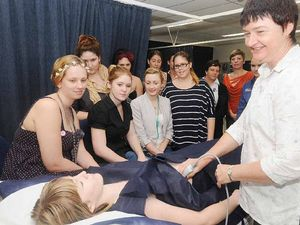 Students get hands-on ultrasound