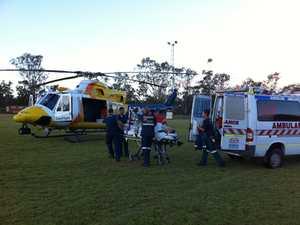 Tara man airlifted to Brisbane