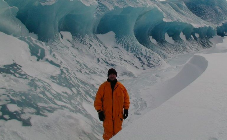 ICY WILDERNESS: During his time working for the Bureau of Meteorology Sunshine Coast author Dave Morgan travelled to Antarctica three times. Photo: Contributed