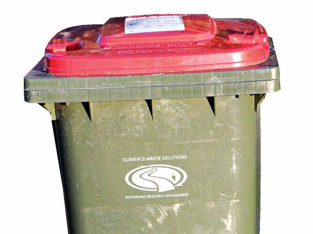 Council's red bin: the bin of last resort.