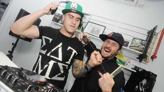 Heath Paton (right) owner of Heath Paton Hair For Men was voted the best barber in Mackay.