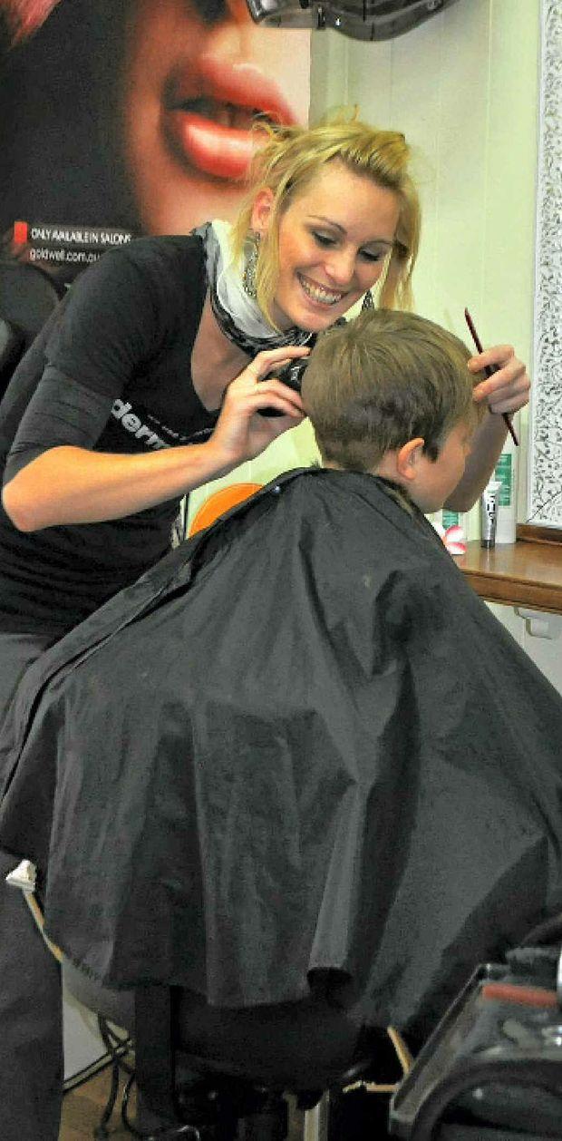 Hairdresser Jaime White.