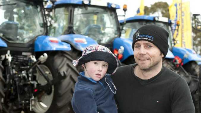 Mark Johnstone and nephew Hamish Johnstone of Toowoomba at CRT Farmfest.