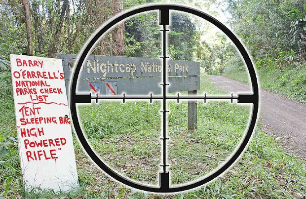 HUNTING HAVEN: In the line of fire – Nightcap National Park.
