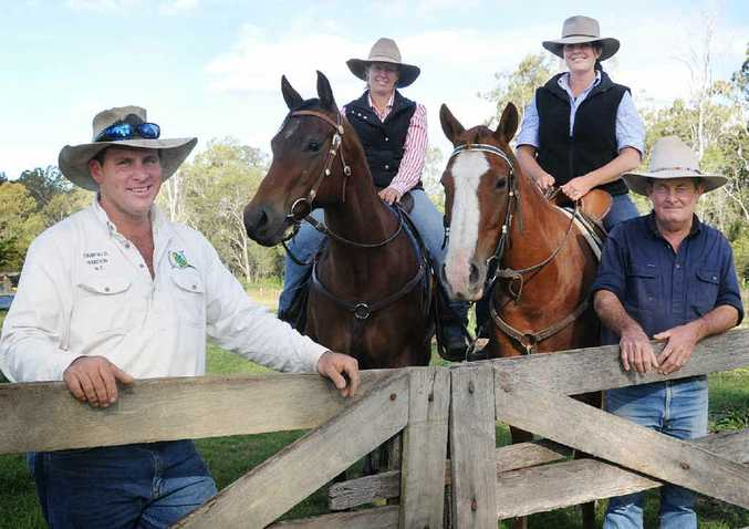Tony and Shelly Mawhinney and Tracey and Alan Petersen will be at Gunalda's annual campdraft this weekend.