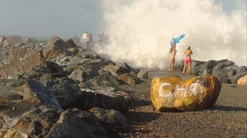 The surging low pressure system continues to hammer Coffs Harbour's south wall.