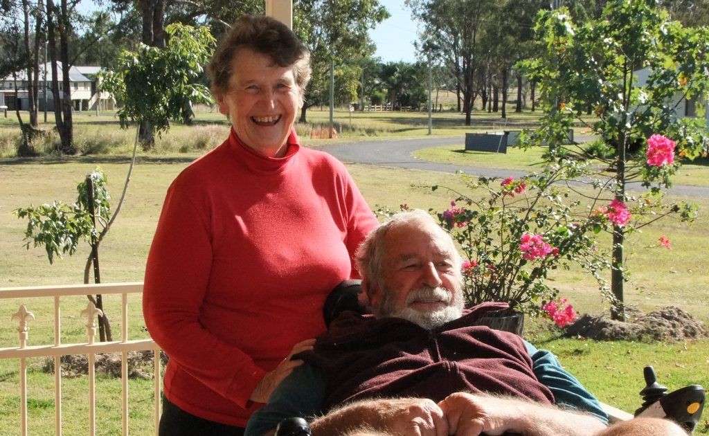 THE LUCKY ONES: Wondai residents Mary and Ken McGregor said they support the Federal Government's $1 billion National Disability Insurance Scheme despite them not needing as much assistance as others. Photo: Danielle Lowe / South Burnett Times