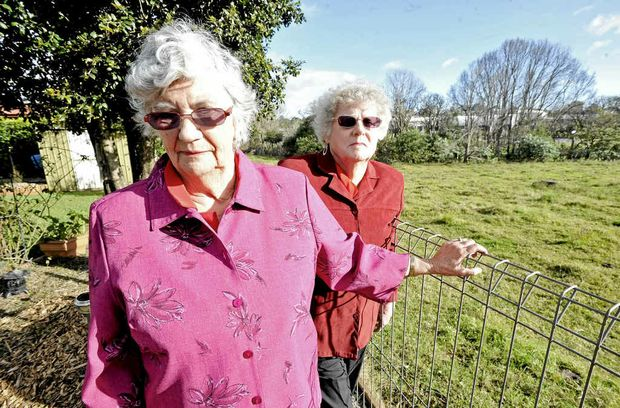 Sisters Edie and Deanne Scobie, residents of Graeme Ave in Goonellabah, are worried about the wildlife coming into their yard since trees were removed from nearby land.