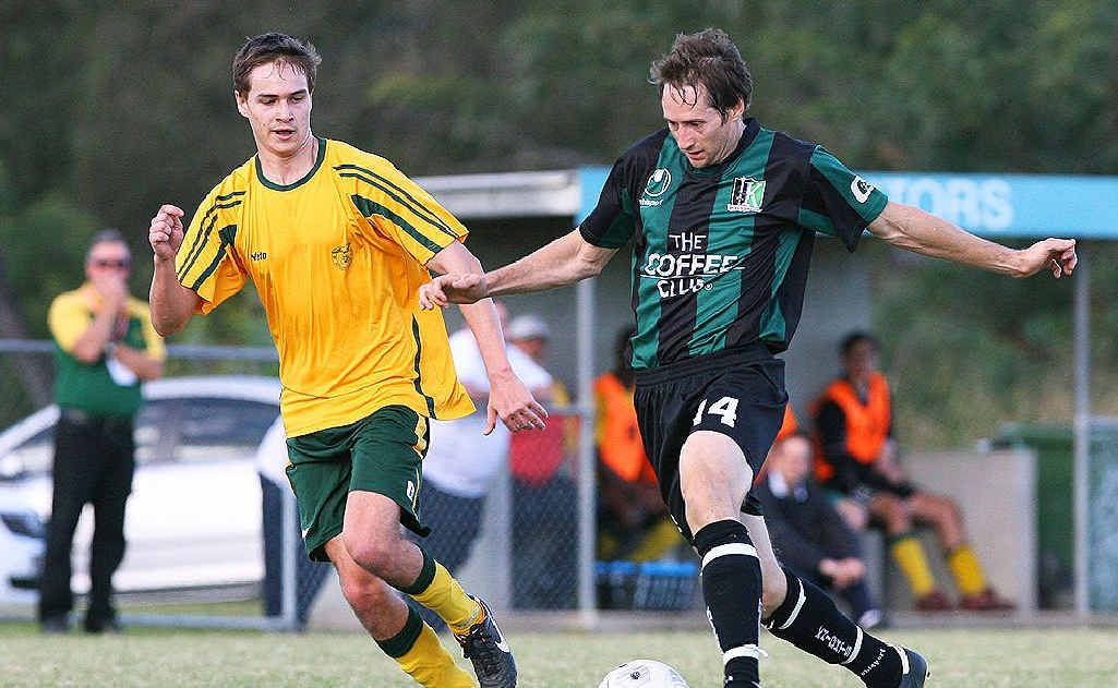 Ipswich Knights player Andy Drager (right) is ready to make an impact against Western Spirit tomorrow after being rested in the midweek match.