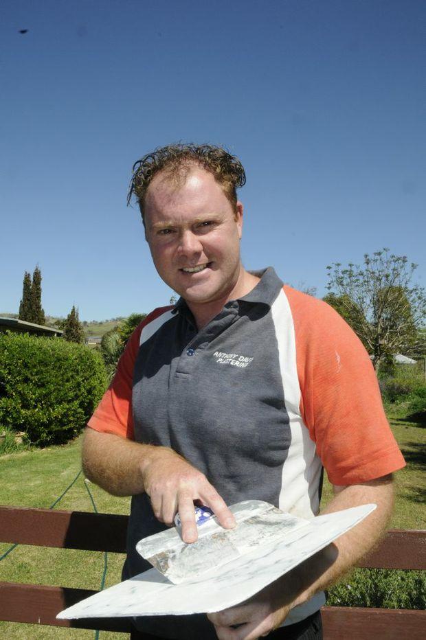 Tradie, Anthony Davis, plasterer.